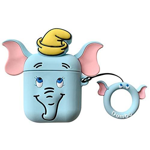 chivalrylist Bluetooth Headset Case Stereo Dumbo Gummi Schutzhülle für Airpods 2 Generation