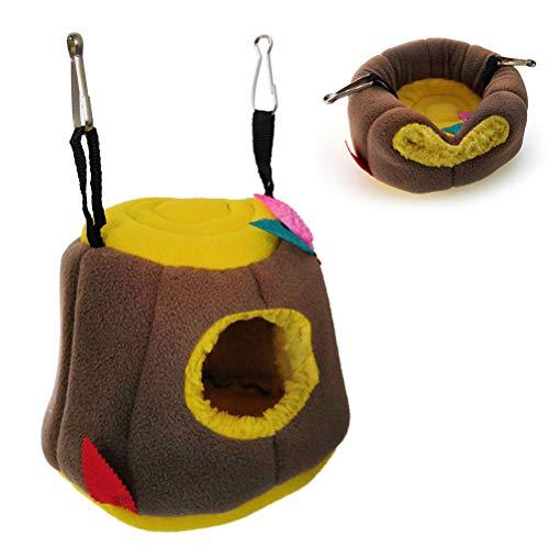 3 Colors Optional Plush Pet Small Animal Cage Hammock Bed for Squirrel Guinea-Pig Chinchilla Hamster Ferret Yellow B Blesiya Triangular Hanging Cat Hammock