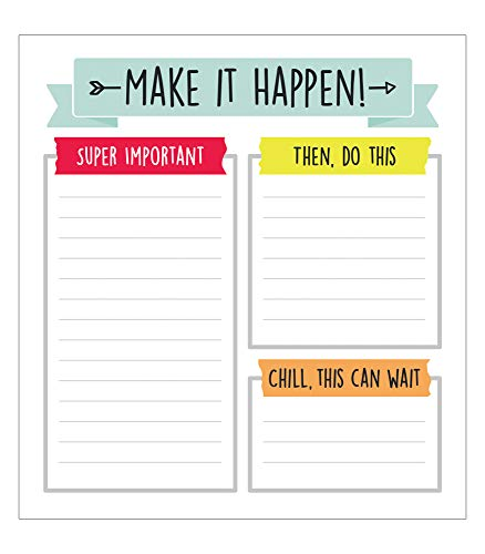 "Carson Dellosa Aim High To Do List Notepad—5.75"" x 6.25"" Paper Stationery, Daily Checklist, Goals, Reminders, Notes, Motivational Organizer (50 sheets)"