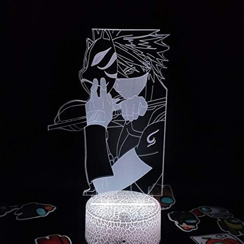 YSJJEFB Lámpara Table Figura de Anime 3D LED Luz de Noche Luz de Regalo de cumpleaños para niños Niñas Lámpara de decoración de Noche de Noche Decoración del Arte del Manga Light