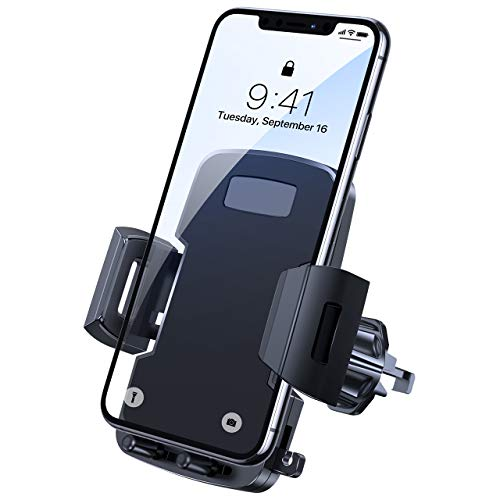 Newest Car Phone Mount, Miracase Air Vent Mount Ultra Stable & Hands-Free, Thick Case Friendly and 360° Rotation, Universal Cell Phone Holder for Car Compatible for iPhone Samsung and All Smartphones
