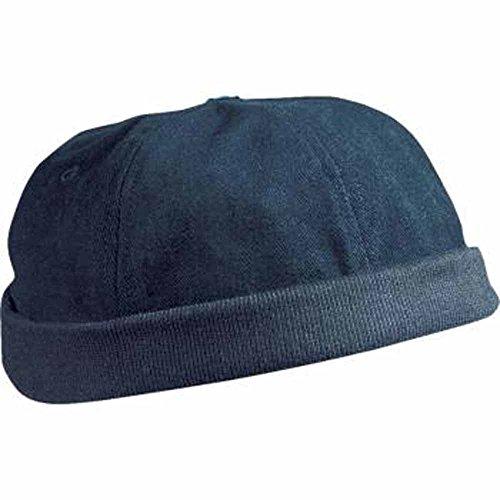 Myrtle Beach, MB022, Berretto in cotone spazzolato, colore nero Blu mare Taglia unica