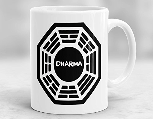 Taza perdida, taza de té o café con iniciativa Dharma, taza perdida, 11 oz