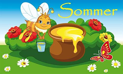 UB Fahne/Flagge Sommer Biene Honig Blumen 90 cm x 150 cm Neuware!!!