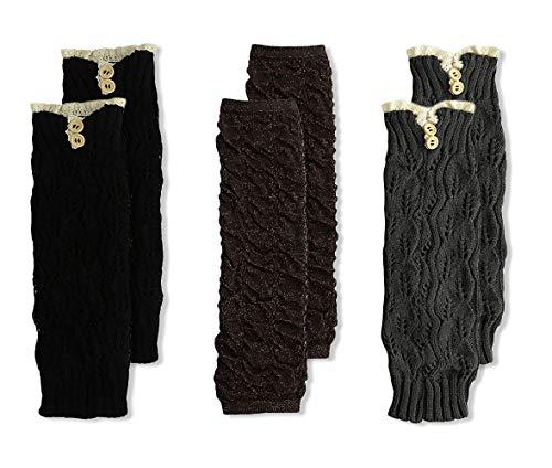 Jefferies Socks Beinwärmer für Mädchen, 3 Paar - mehrfarbig - Einheitsgröße