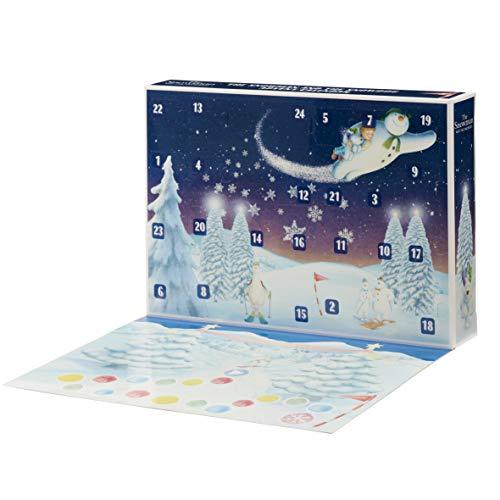Unbekannt Snowman 07067 Adventskalender Schneemann und Schneehund, Mehrfarbig