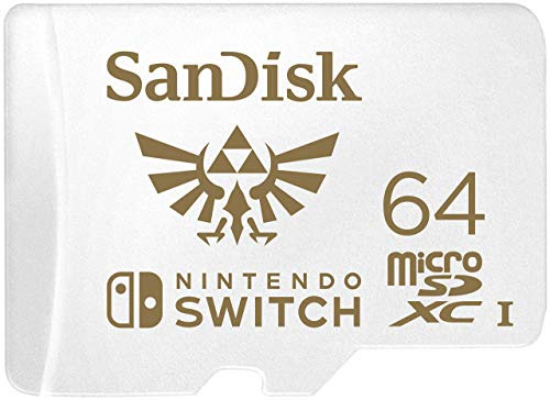 SanDisk 64GB MicroSDXC UHS-I Memory Card for Nintendo Switch - SDSQXAT-064G-GNCZN