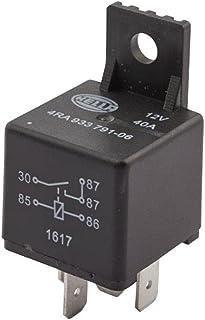 HELLA 4RA 933 791-061 przekaźnik, prąd roboczy - 12 V - 5-biegunowy - zwierny - z uchwytem