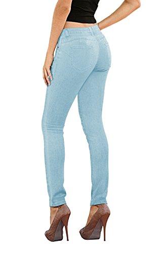 Women's Butt Lift Stretch Denim Jeans P37377SK Lightwash 11