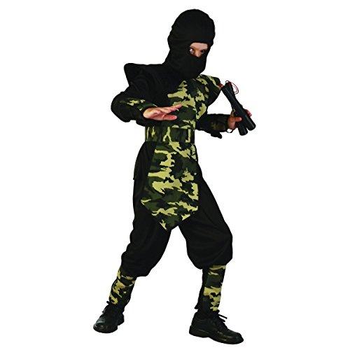 Disfraz ninja militar para niño - 7 - 9 años: Amazon.es: Juguetes ...