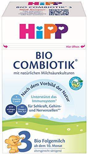 Hipp Bio Milchnahrung 3 Combiotik, 4er Pack (4 x 600 g)