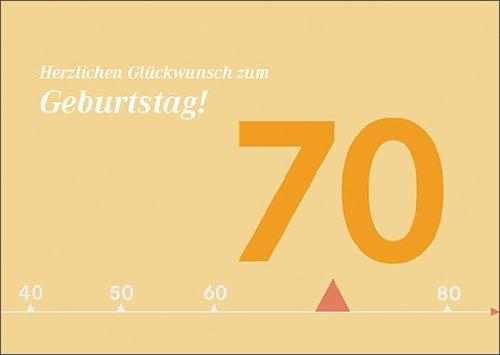Moderne zonnige verjaardagskaart voor 70e verjaardag: Gefeliciteerd voor verjaardag. • Ook voor directe verzending met de tekst inlegger • mooie wenskaart met envelop voor beste vrienden en lievelingsmensen.