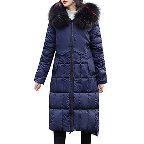 Damen Tops for Women,Somerl Frauen Arbeiten Faux Pelz Jacke Doppelseitigen Abnutzungs Taschen Kapuzenpulli Mantel Tops Damen(Blau,M)