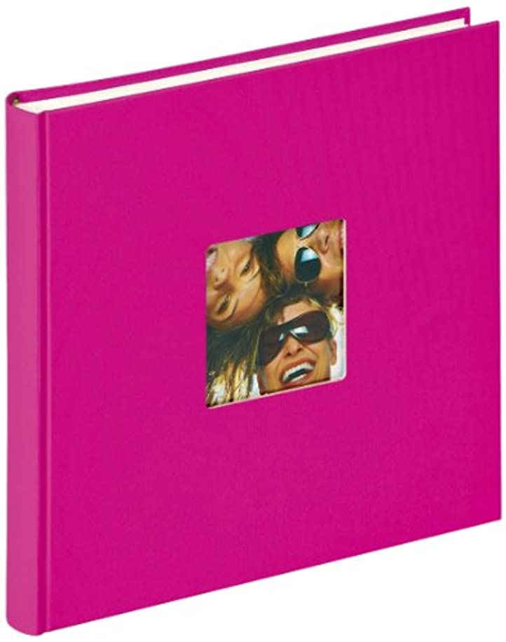Walther Design FA-205-Q Fun Trend Book Bound Album die Cut Your Personal Picture, 10.2 x 9.8 inch (26 x 25 cm), 40 White Pages, Pink
