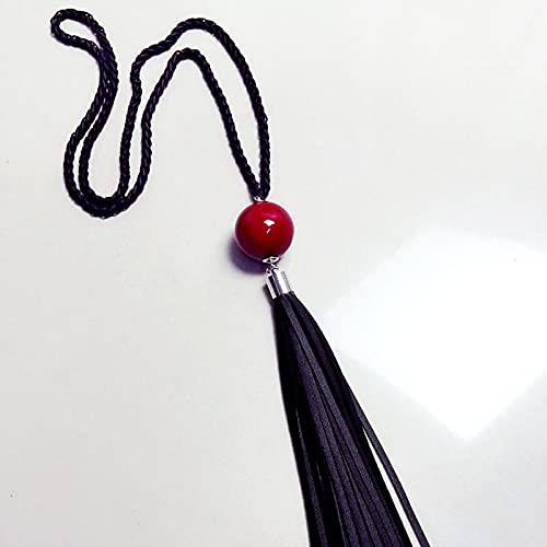 Collares Joyería Colgantes Borla Colgante Suéter Cadena Collar De Cuentas Largas Regalo De Joyería De Moda para Mujeres Rojo