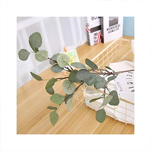 CQHUI Artificial Plants Fake Eucalyptus Leaves Twigs Green Plants Wedding Home Outdoor Decor Flower Arrangement (Color : Green)
