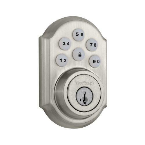 Kwikset 910 Door Lock for U.S., 910TRL ZW 15 SMT (Satin Nickle), by Kwikset, Cert ID: ZC08-15060007