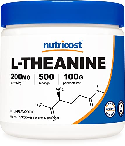 Nutricost Pure L-Theanine Powder 100 Grams by Nutricost