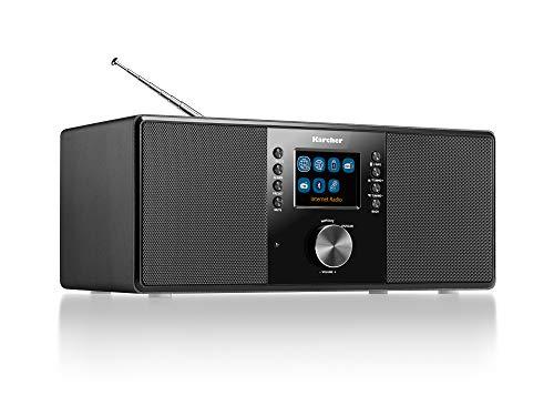 Karcher DAB 7000i Internet Radio DAB+ / FM RDS – Wi-Fi e Bluetooth – Porta USB – AUX IN – con doppio allarme sveglia Nero