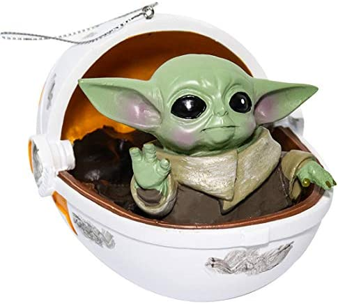 Bulex The Mandalorian Toy Baby Yoda Figure Space Capsule The Child Yoda Resin Collectible Hanging product image