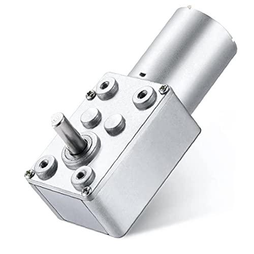 Yililay Motor de Engranaje de Gusano DC 12V 95RPM Torque eléctrico Alto Reductor de turbinas de Metales