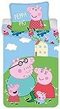 Jerry Fabrics Peppa Pig - Juego de sábanas (140 × 200 cm 70 × 90 cm)