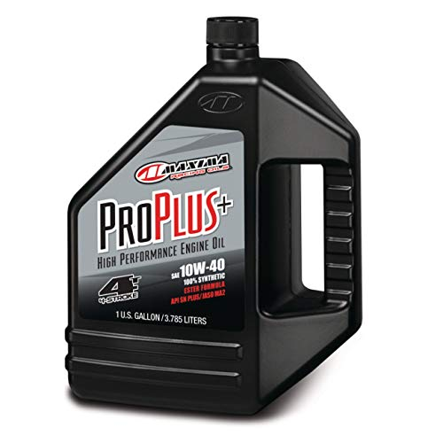 Maxima (30-029128 Pro Plus+ 10W-40 Synthetic Motorcycle Engine Oil - 1 Gallon