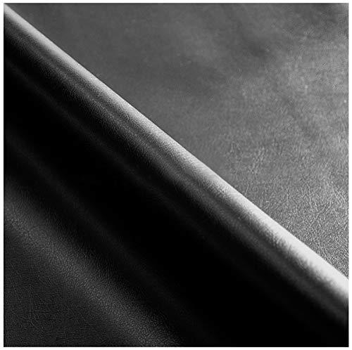 TESSUTO ECOPELLE IN PIU' COLORI vendita al metro h140 cm finta pelle per rivestimenti 100% MADE IN ITALY (NERO (H))