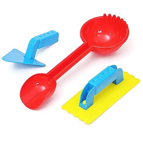 Yusheng 3 pièces Pelles à Sable de Plage ramassant des pelles à Sable en Plastique Durable pour Enfants avec Pelle Triangulaire - Pelles à Neige et à Sable pour Une fête Amusante à la Plage de Jardin
