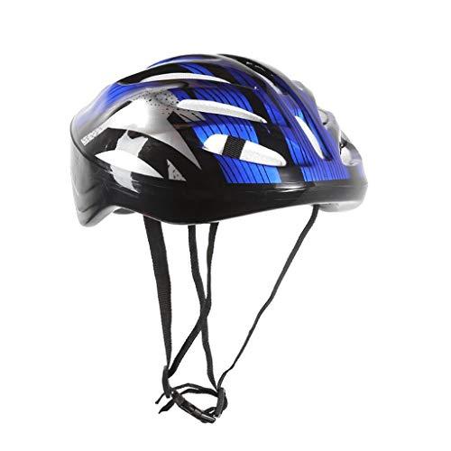 Sayla Fahrradhelm Herren Damen Für Downhill Rennradhelm Mountainbike Inliner Skaterhelm BMX Fahradhelm Scooter Jungen Bike Helmet Mountain Road Bike Fahrradhelm Leichter Fahrradhelm (Blau)