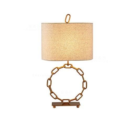 JPVGIA Lámpara de mesa grande Dormitorio Mesita de noche Lámpara de escritorio de metal Sala de estar Iluminación interior Lámparas de mesa de cobre minimalistas nórdicos