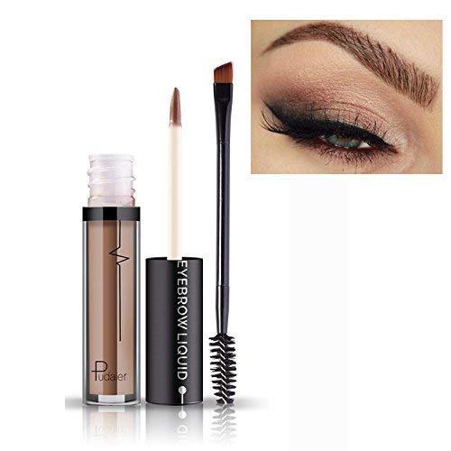 Impermeable Sourcil à Longue Durée de vie Gel Paupières Liquide Maquillage + Brosse #2