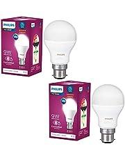 Philips Base B22 9-Watt Round LED Bulb (Pack of 2, Cool Day Light) (Cool Day Light)