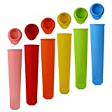 Homemade Ice Pop molds,Hand-Held Silicone Popsicle Molds with Attached...