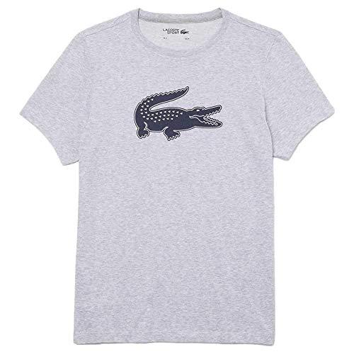 Lacoste TH2042 Camiseta, Argent Chine/Marine, L para Hombre