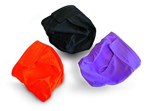 Schutzhose Läufigkeit Hündin Läufigkeitshose Unterhose (3 - 37-47cm, schwarz)
