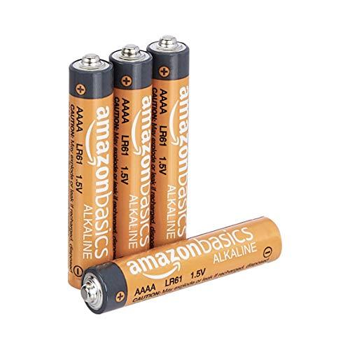 AmazonBasics - Pilas AAAA alcalinas de 1.5 voltios, gama Everyday, paquete de 4 (el aspecto puede variar)