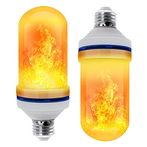 WH LED Flame Effect gloeilamp - 4 modi met Upside Down Effect - 2 Pack E26 Base LED lamp - vlam Bulbs for Festival/hotel/bar Party Decoratie
