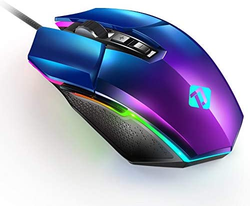 PeohZarr Gaming Mouse Computer Gaming Mice with Electroplating Aurora Cover PC Gaming Mice with product image