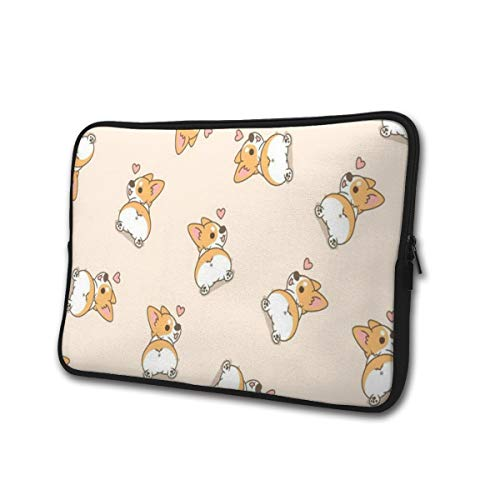 SWEET-YZ Laptop Sleeve Case Corgi Butt Notebook Computer Cover Bag Compatible 13-15 Inch Laptop