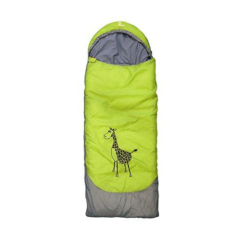 outdoorer Kinderschlafsack Dream Express Grün - Kinderschlafsack aus Baumwolle mit Funktion als Deckenschlafsack