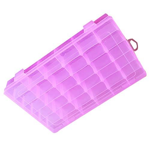Vokmon 36 Compartments Plastikaufbewahrungsbehälter SchmucksachenRhinestonezircon-Korn-Ohrring-Organisator-Behälter - Pink