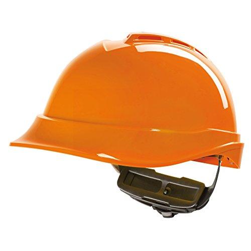EL MSA V-Gard Casco EN397 - Casco de trabajador de construcción Cascos de trabajo Cascos de protección en div. Colores - Naranja, V-Gard 200 Premium