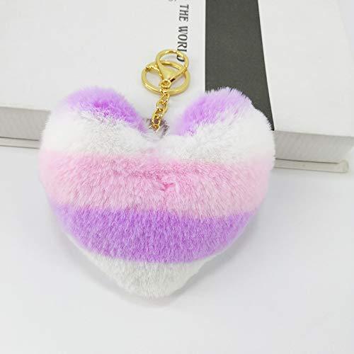 RUII Kissen New Plush, warme Haarfarbe Farbe passend Bunte Liebe Schlüsselring Herz colourful7