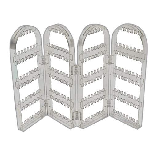 2/4 Puertas Mostrar Pendiente de la joyería de plástico Transparente Estante de...