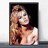 HGVFR Leinwand Poster Brigitte Bardot Filmstar Leinwand