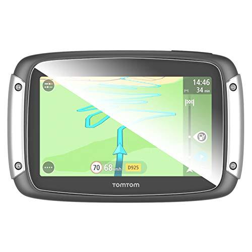 SHAOHAO Navigation - Protector de pantalla para Tomtom Rider de 4,3 pulgadas GPS, transparente, resistente a los arañazos 9H antihuellas, vidrio templado (2 unidades)