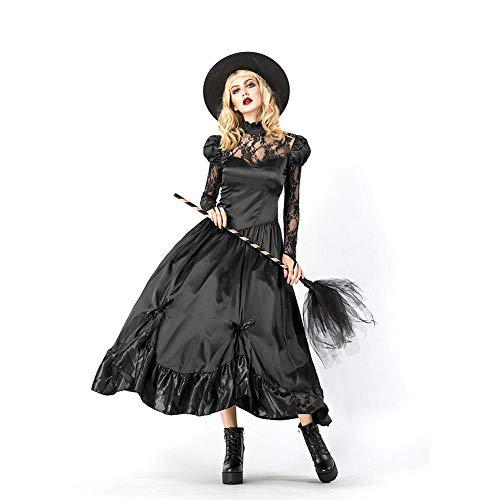 TIANFUSW Vestito Halloween Donna, Adulto Vestito Halloween Strega M