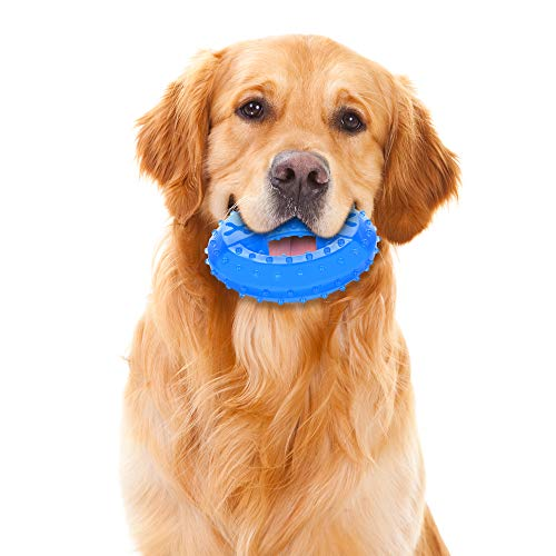 NWK Pet Product Freezable Cooling Teether Chew Toy for Puppies (Cooling Ring)