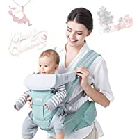 Maydolly Adjustable 6-in-1 Soft Infant Carrier with Waist Stool